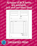 Personalised Ncr Invoices A5 A4 A3 Duplicate Pad Or Book Printing