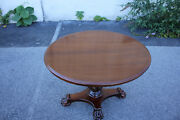 Antique Empire Style Walnut Oval Center Table