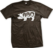 Pig Bbq Silhouette Side Barbecue Pork Eat Grill Out Cook Meat Ribs Men's T-shirt