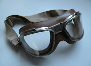Vintage Ww2 Us Navy An-6530 Flight Goggles Original With White Strap