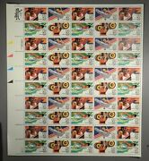 1983 C105, 106, 107, And 108 40c Summer Olympics Stamp Sheet Nh Og Priced Right