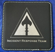 Cia Clandestine Service Incident Response Team Leather Coasters Set Of 4