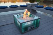 New Custom Outdoor Natural Gas Fire Pit And Backyard Patio Fireplace