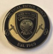 Cpd Cambridge Massachusetts Police Department Tactical Patrol Force Swat Coin