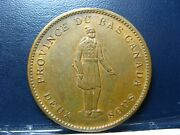 Lc-9b2 One Penny Token Deux Sous 1837 Bas Lower Canada Quebec Bank Breton 521