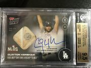On-card Auto Relic /49-clayton Kershawand039s 1st Mlb Save Bgs 9.5 Pop 1 Dodger