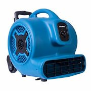 Xpower P-830h 1 Hp Commercial Air Mover Floor Dryer Fan W/ Handle And Wheels
