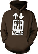 I Fart In Elevators Stick Figures Pass Gas Smell Stink People Hoodie Sweatshirt