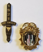 Lot Of 2 Coins Nypd And Njsp 9/11 15th Anniversary Njsp Serialized 050/250