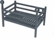 Solid Steel Fire Basket Fire Andiron Dog Grate Fireplace Fire Grate 3 Sizes