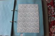 Swiss Antique Cotton Batiste Cutwork And White Embroidery Sample Book 27 Samples