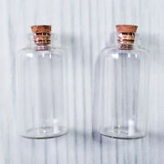 25ml Clear Glass Bottle With Cork Tiny Empty Jar Small Mini Message Vial 30x60mm