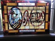 Meyda Lite House Stained Glass Sign Excellent Read Shipping Description