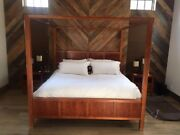 Beautiful Contemporary 4 Post King Bedroom Ste With 2 Night Stands And Dresser.