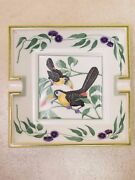 Hermes Toucans Ashtray Birds Accent Tray Dish Or Jewelry Very Good