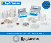 28mm Lighthouse Coin Capsules Direct Fit Gold Canada 100 Holders 3 Packs 30