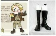 Axis Powers Hetalia Usa United States Cosplay Costume Boots Boot Shoes Shoe Uk