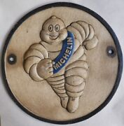 Michelin Man Running Tire Advertising Cast Iron Shop Sign Gas Station