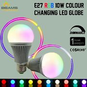 E27 10w Rgb And Wihte Led Dimmable Light Bulb Globe Colour Changing Lamp + Remote
