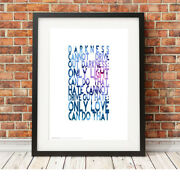 Martin Luther King Quote ❤ Poster Art Limited Edition Print In 5 Sizes Love 65