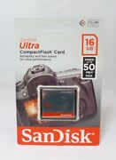 Sandisk Ultra Compact Flash Memory Card - 16 Gb 50 Mb/s Sdcfhs-016g-g46