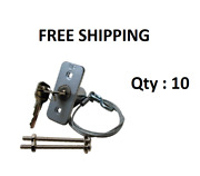 Garage Door Emergency Disconnect Release Key Lock W/ 3 Foot Cable - Qty 10