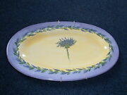 Ceramic Serving Platter Hand Made in France Signed with Plate Hanger EUC