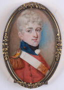 Portrait Of A Young British Officer Fine Miniature 1st Half Of 19th Century