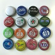 Set Of 16 Collectible Used Bottle Caps Beer Soda Pop Rare Product Thailand Craft