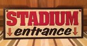 Stadium Entrance Sports Baseball Football Basketball Man Cave Autograph