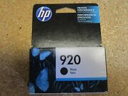 Lot Of 5 Genuine Cd971an Hp 920 Black Ink Cartridges New In Sealed Box