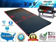 5and039 X 8and039 60 X 96 Industrial Heavy Duty Floor Scale L 1000 Lbs X .2 Lb