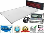 60 X 84 Industrial Floor Scale With Printer And Scoreboard L 2500 Lbs X .5 Lb