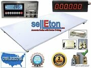 New 5and039 X 8and039 / 60 X 96 Floor Scale And Lcd Indicator And Scoreboard 10k X 1 Lb
