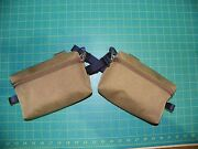 Pair Of Custom Coyote Hip Belt Pocket Pouches For Usmc Ilbe Main Pack