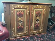 19th Century French Country Cabinet Pie Safe Hand Painted