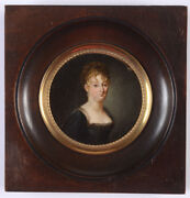 Portrait Of A Lady High Quality French Oil On Tin Miniature 1810/15
