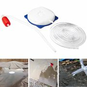 Above Ground Pool Winter Cover 13ft Siphon Hose Pump With Manual Priming Bulb