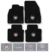 4pc Carpet Floor Mat Set For 1976-2019 Cadillac Cars - Choose Logo And Color