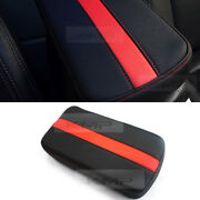 Sports Center Console Line Armrest Support Cushion Red Accessory For Subaru Car