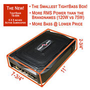 The Smallest Tightbass Under Seat Bass Box 6x8 Active Subwoofer - Free 5m Rca