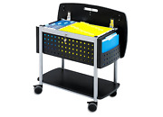 Rolling File Storage Document Holder Organizer Office Portable Wheels Mobile New