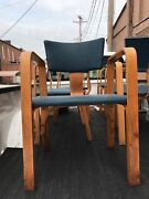 One 1 Thonet Bentwood Antique Chair With Arms And Padded Seat.