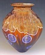 """BILL CAMPBELL 13""""  Vase Pottery Glazed Crystalline Porcelain RARE Actual Piece !"""