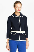 Nwt Kate Spade Mayson Sweater Jacket Midnight And Cream 348 - Size 2
