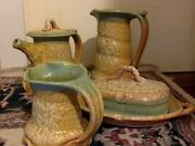 Vintage Art Pottery. Studio Handcrafted Signed. Coffee/Tea Serving Set. 4 Pieces