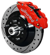Wilwood Disc Brake Kitfrontfor Wwe Prospindle13 Drilled Rotorsred Calipers