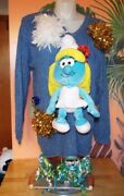 Smurfette Smurfs Ugly Christmas Sweater.one Of A Kind, Size Large.