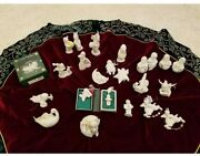 Lot Of 24 Dept 56 Snowbabies Figurines Christmas Holiday Decoration Ornaments