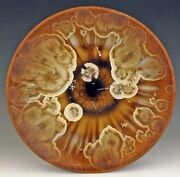 """BILL CAMPBELL Pottery 11"""" Platter Crystalline Glaze Porcelain Great Gift ACTUAL"""